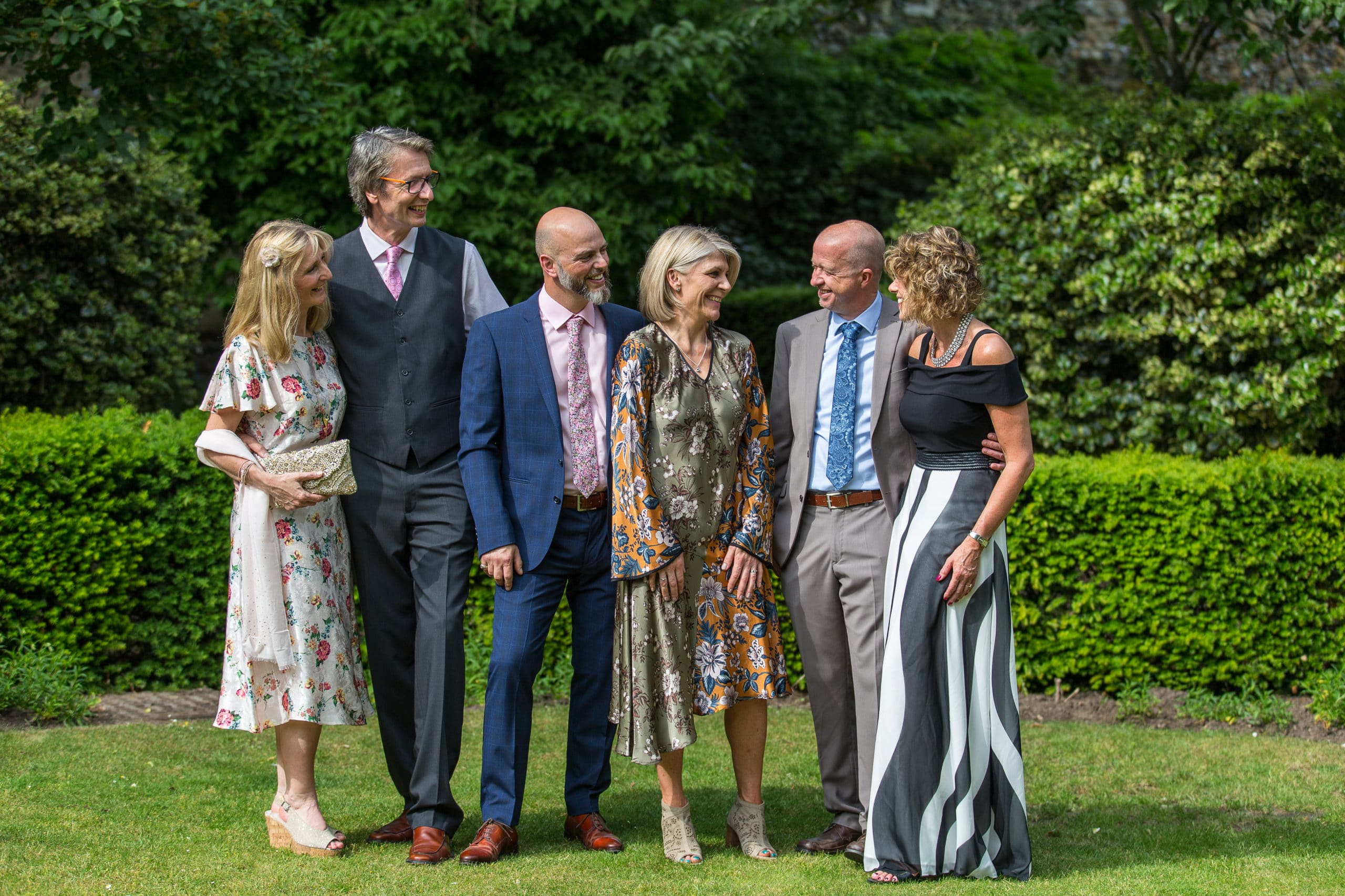 wedding group shot abbey gardens ely