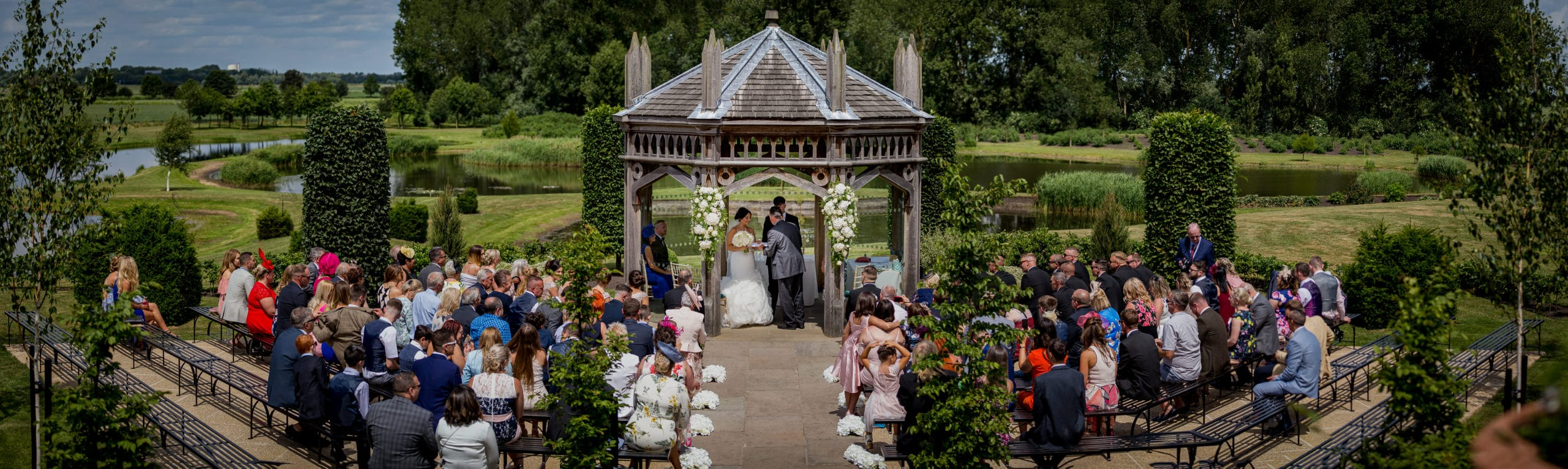 Outdoor Ceremony at the Old Hall in Ely