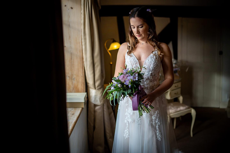 Wedding Bride Portrait Prested Hall