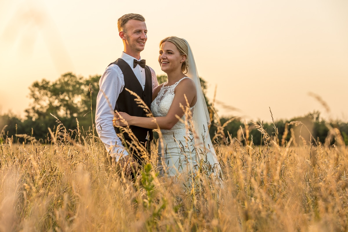 Sunset, wedding portrait, golden hour,