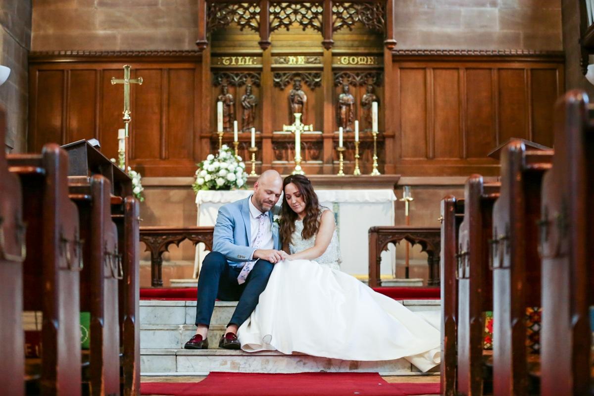 Church Portrait Bride and Groom