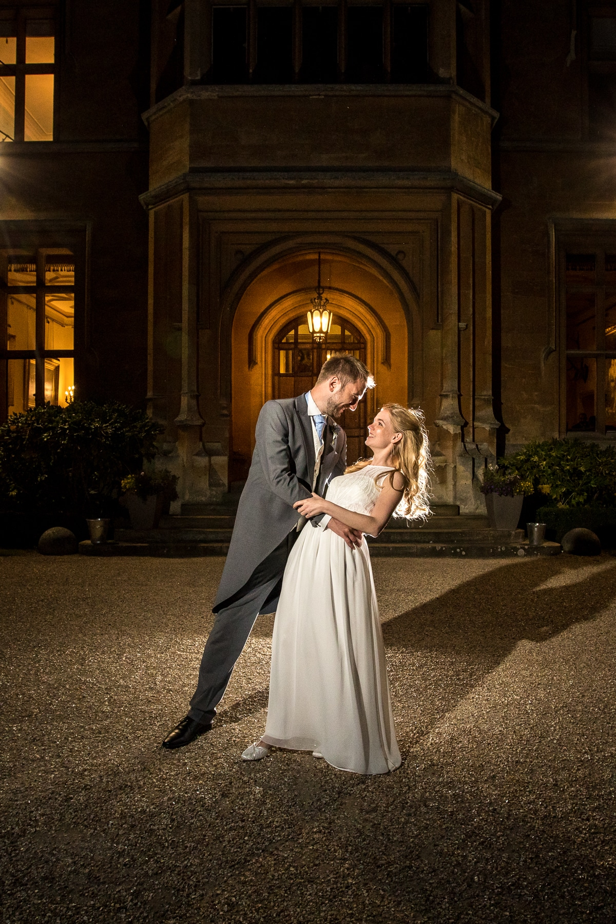 House at Shuttleworth night wedding portrait